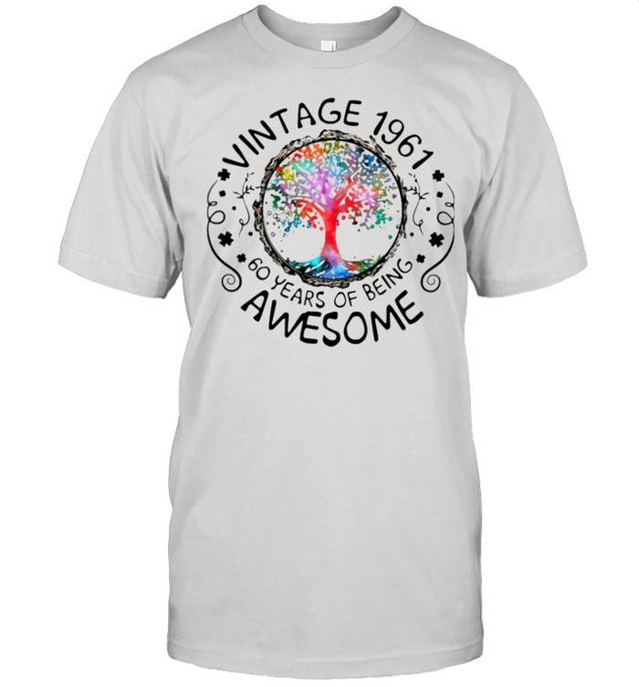 Vintage 1961 60 Years Of Being Awesome  Classic Men's T-shirt