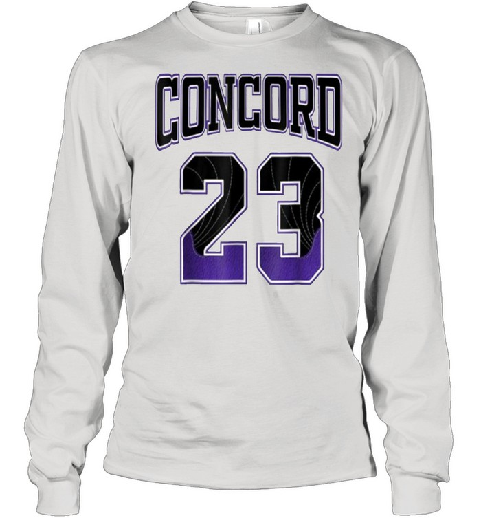 Simple 23 Made To Match With Jordan 12 Darck Concord  Long Sleeved T-shirt