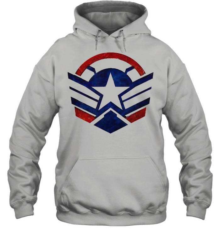 The Falcon and the Winter Soldier Captain America Star Icon  Unisex Hoodie