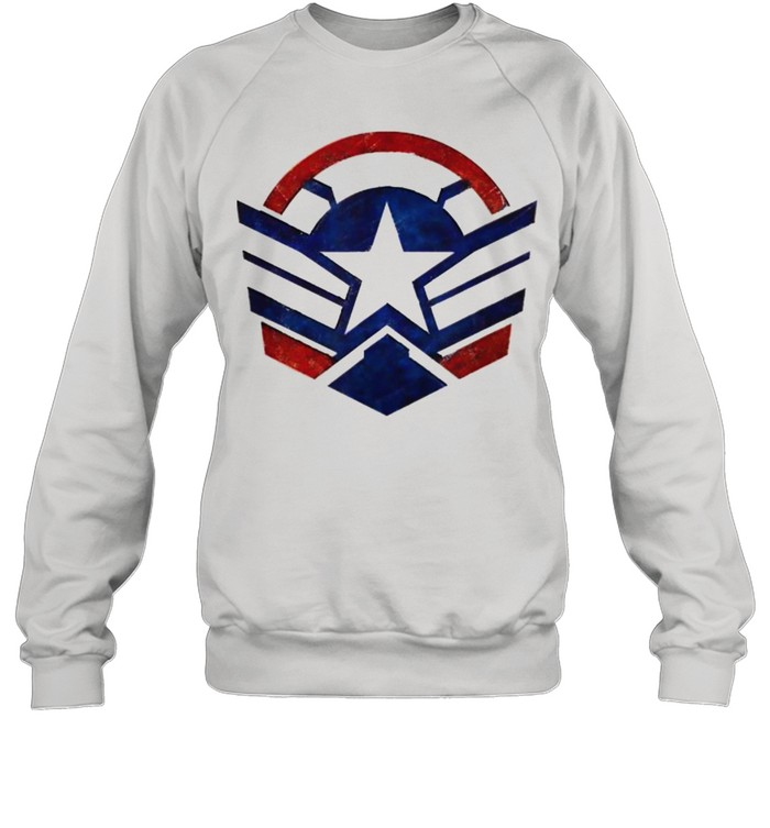 The Falcon and the Winter Soldier Captain America Star Icon  Unisex Sweatshirt