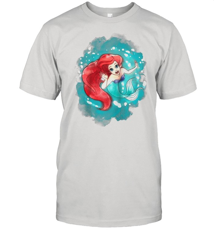 The Little Mermaid Ariel Watercolor Swimming shirt Classic Men's T-shirt
