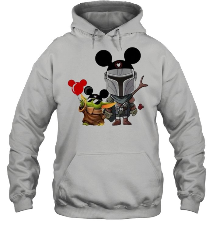 The Mandalorian Baby Yoda Mickey  Unisex Hoodie