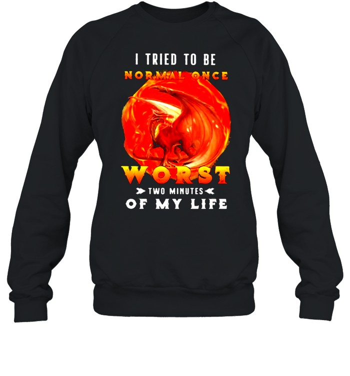I Tried To Be Normal Once Worst Two Minutes Of My Life Dragon  Unisex Sweatshirt