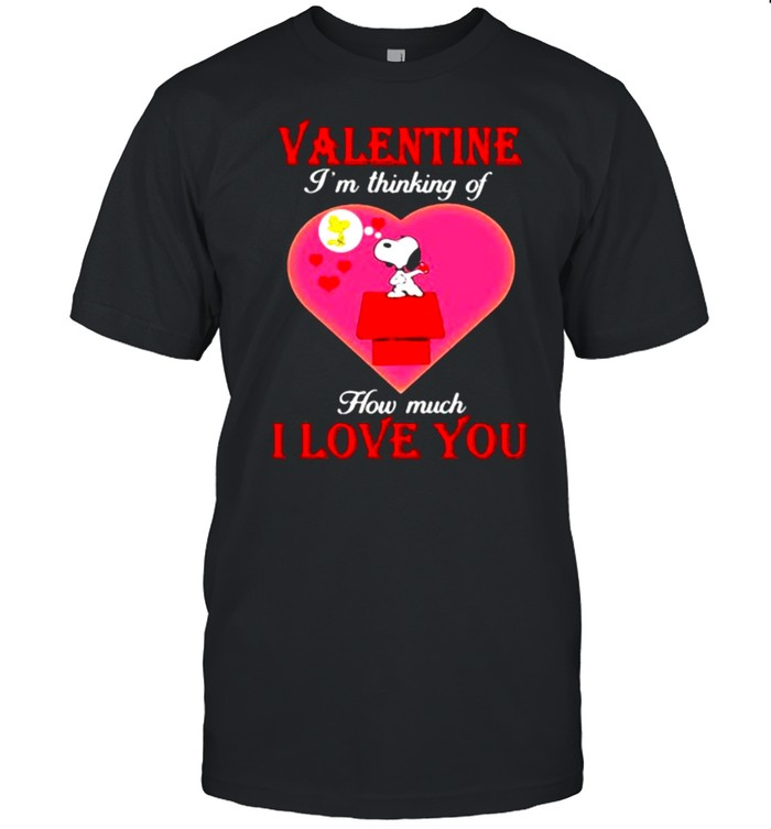 Valentine I'm Thinking Of How Much I Love You Snoopy  Classic Men's T-shirt