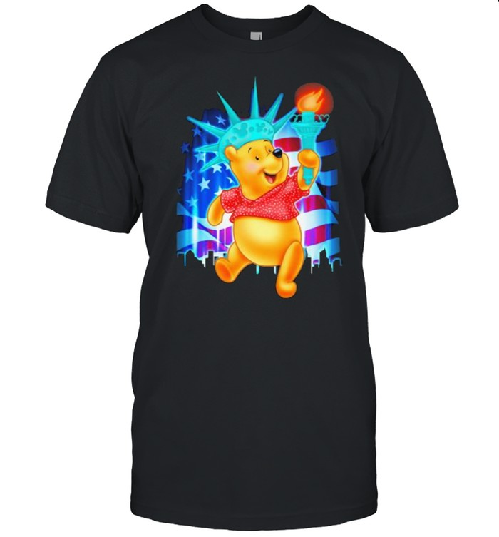 Winnie The Pooh 4th Of July Independence  Classic Men's T-shirt