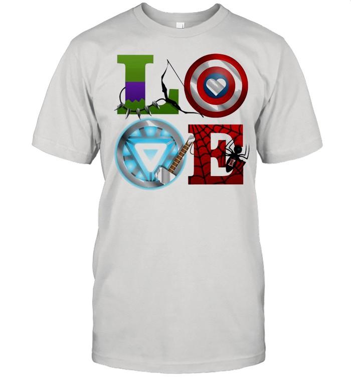 Marvel Avengers Love Symbol Light T-shirt Classic Men's T-shirt