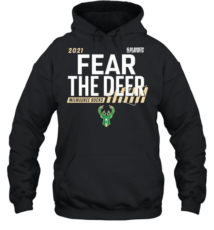 Milwaukee Bucks 2021 NBA Playoffs fear the deer shirt Unisex Hoodie