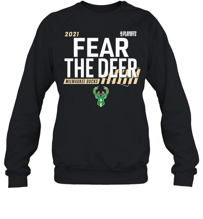 Milwaukee Bucks 2021 NBA Playoffs fear the deer shirt Unisex Sweatshirt