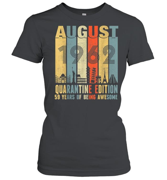 August 1962 59th Birthday Vintage shirt Classic Women's T-shirt
