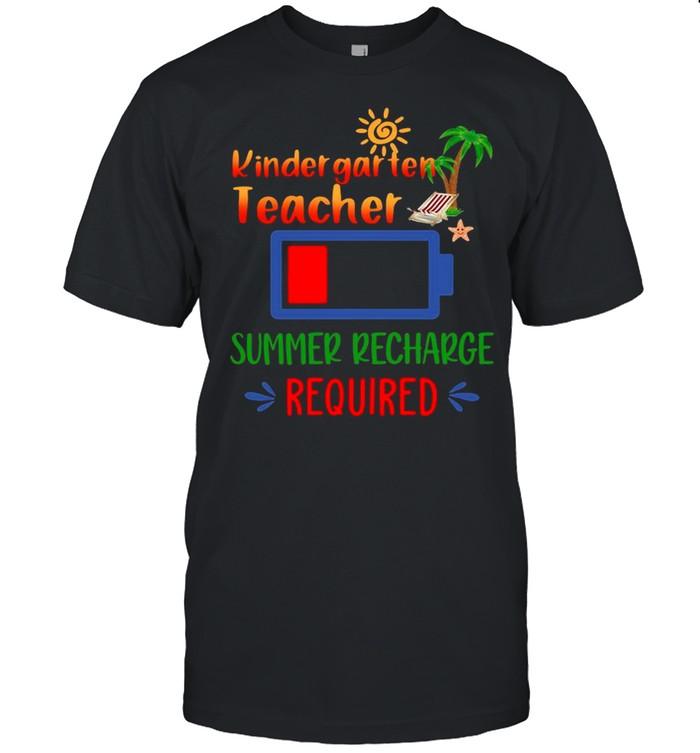 Kindergarten Teacher Summer Recharge Required shirt Classic Men's T-shirt