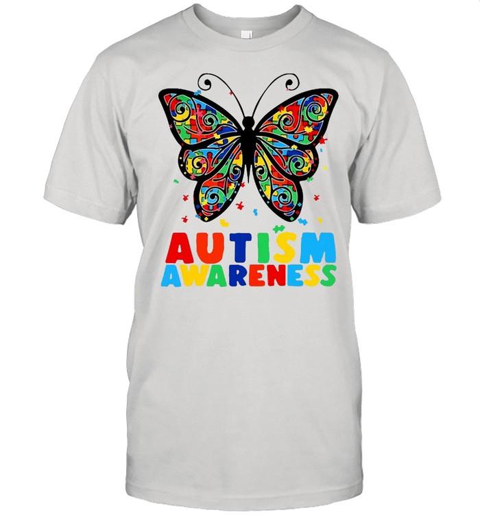 Autism Awareness Butterfly Accept Understand Puzzle Pieces T-shirt Classic Men's T-shirt