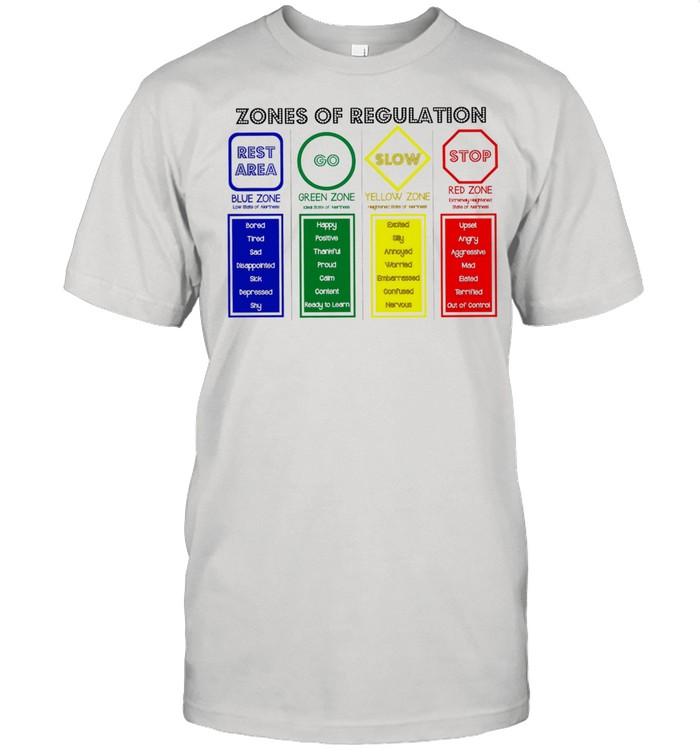 Zones of Regulation rest area go slow stop shirt Classic Men's T-shirt