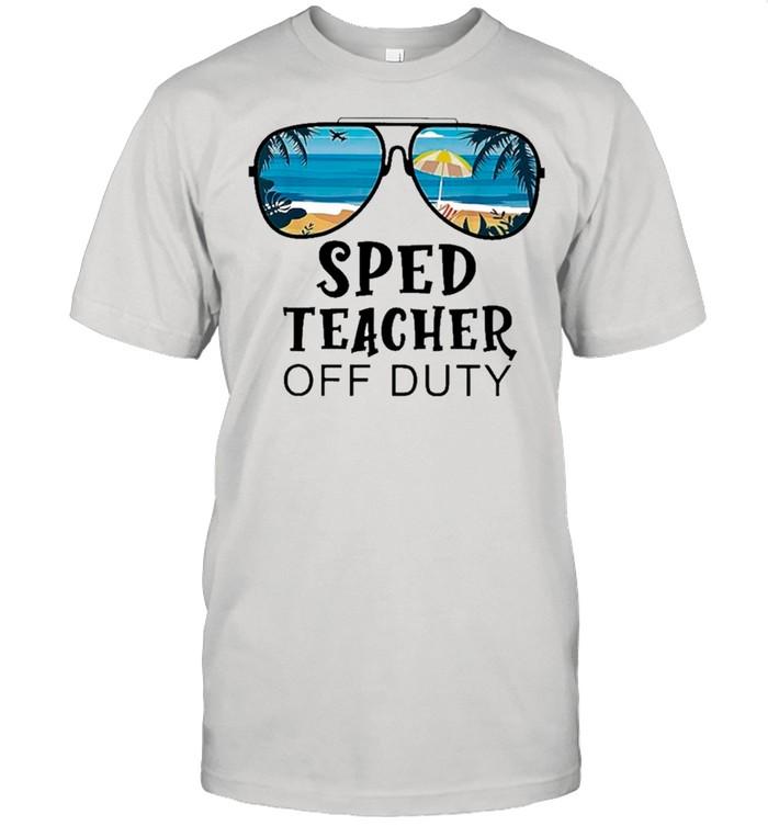 Beach Summer Sunglasses Sped Teacher Off Duty shirt Classic Men's T-shirt