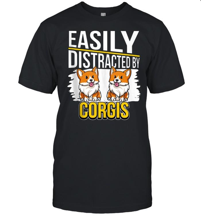 Corgi Quote Easily Distracted By Corgis shirt Classic Men's T-shirt