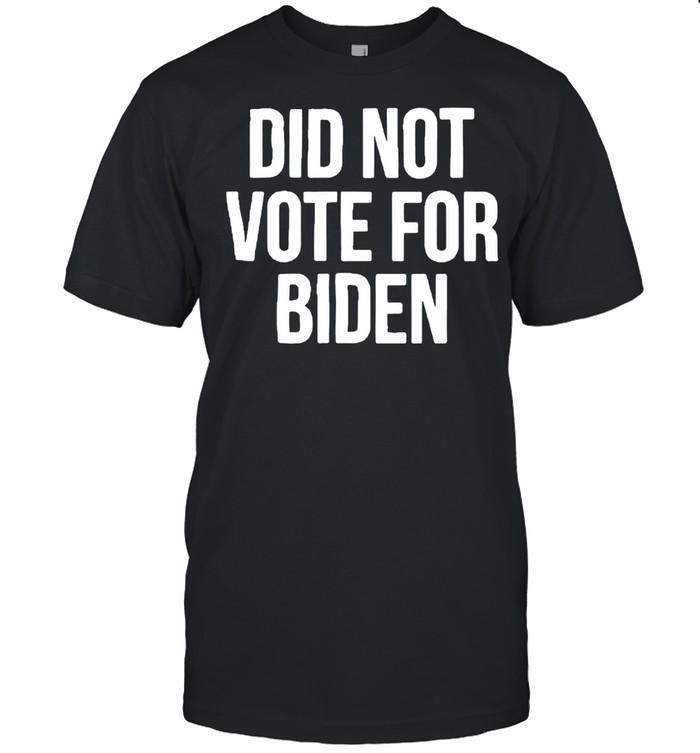 Did not vote for Biden shirt Classic Men's T-shirt