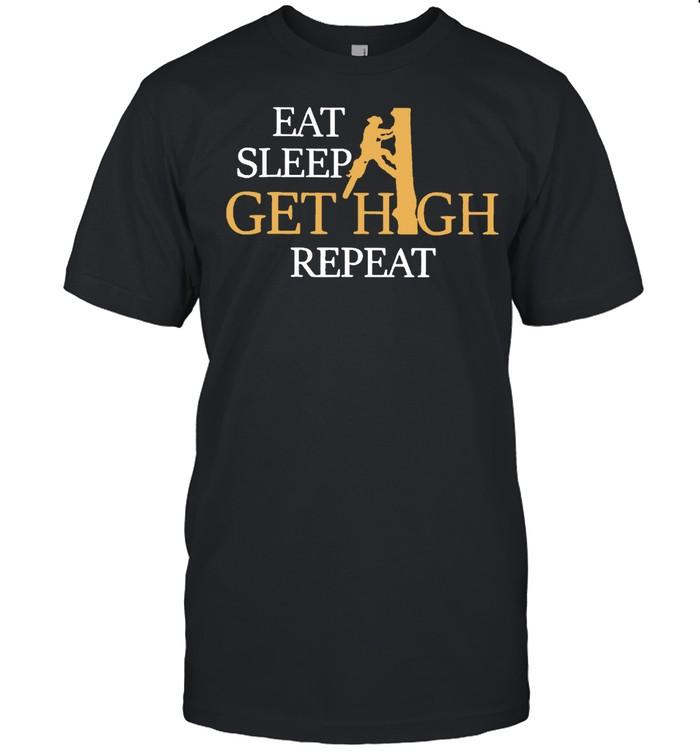 Eat sleep get high repeat shirt Classic Men's T-shirt