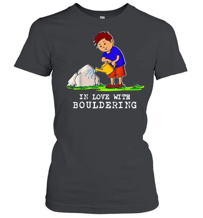 Boulder Bouldering Love Rock Climbing Mounta Classic Women's T-shirt