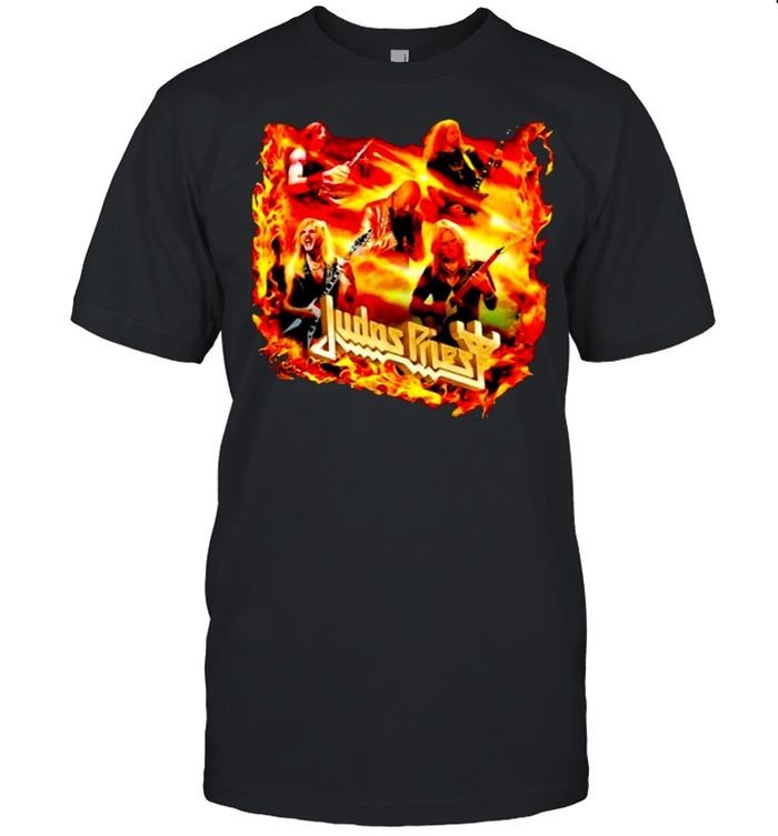 Judas priest fire rock band music shirt Classic Men's T-shirt