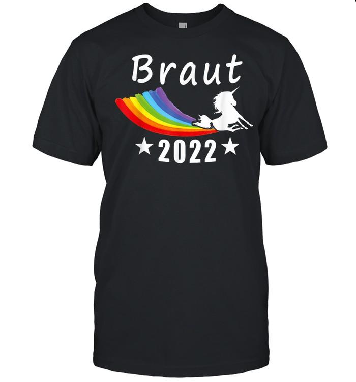 Braut 2022 Einhorn Regenbogen Gay LGBT Lustig shirt Classic Men's T-shirt