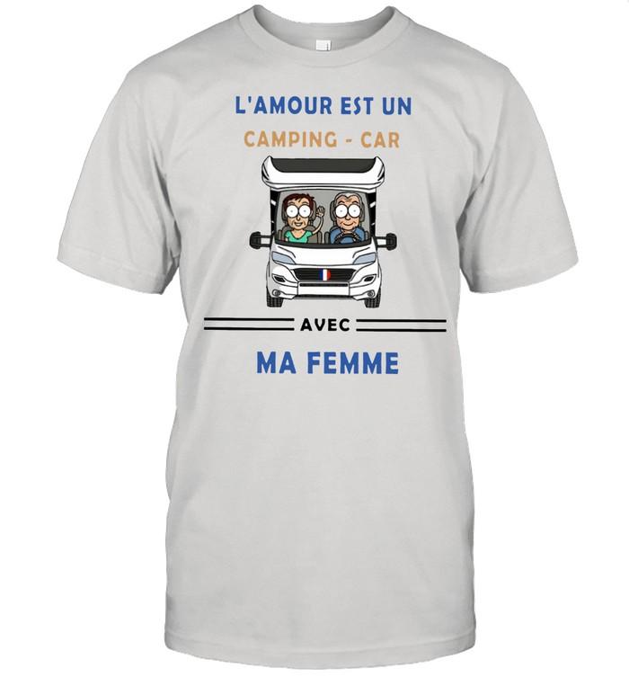 Camping Car Avec Ma Femme shirt Classic Men's T-shirt