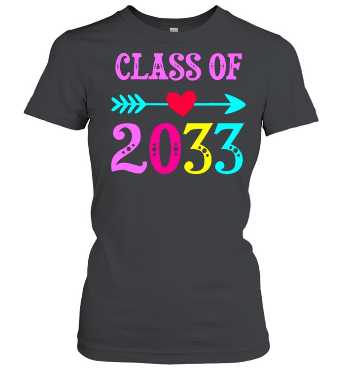 Class Of 2033 Grow With Me For Teachers Students shirt Classic Women's T-shirt