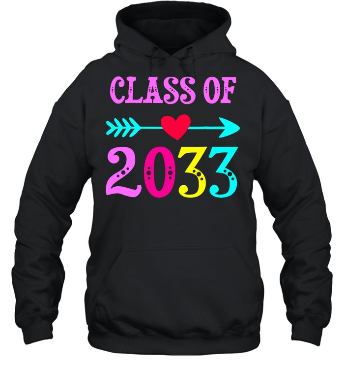 Class Of 2033 Grow With Me For Teachers Students shirt Unisex Hoodie