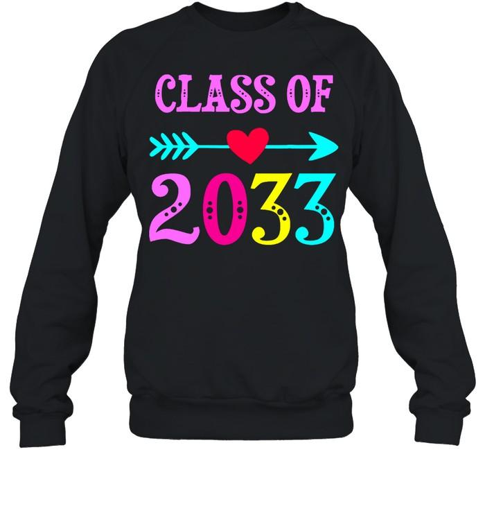 Class Of 2033 Grow With Me For Teachers Students shirt Unisex Sweatshirt