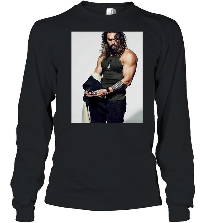 Jasons Momoa T-shirt Long Sleeved T-shirt