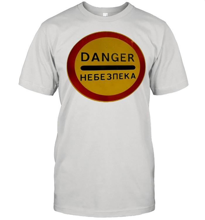 Chernobyl Radiation Warning Vintage Rusted Danger Sign T-shirt Classic Men's T-shirt
