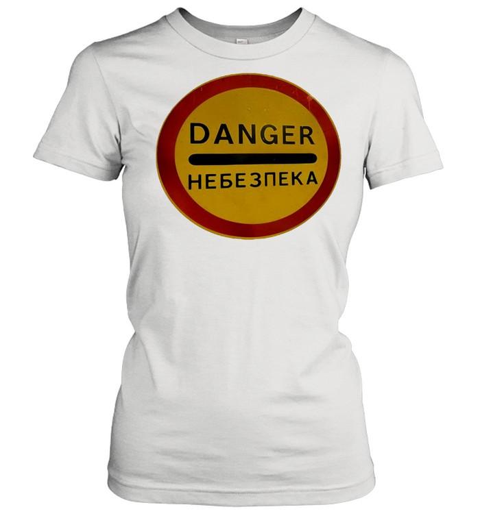Chernobyl Radiation Warning Vintage Rusted Danger Sign T-shirt Classic Women's T-shirt