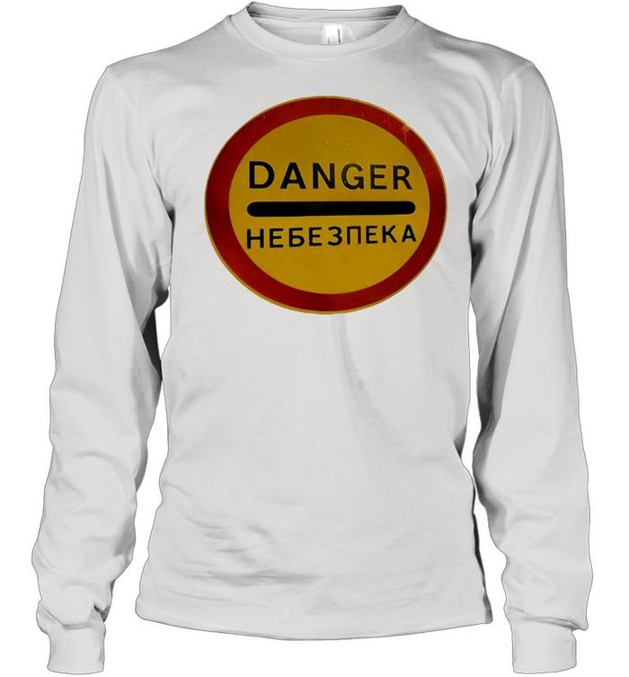 Chernobyl Radiation Warning Vintage Rusted Danger Sign T-shirt Long Sleeved T-shirt