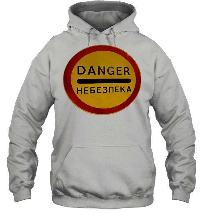 Chernobyl Radiation Warning Vintage Rusted Danger Sign T-shirt Unisex Hoodie