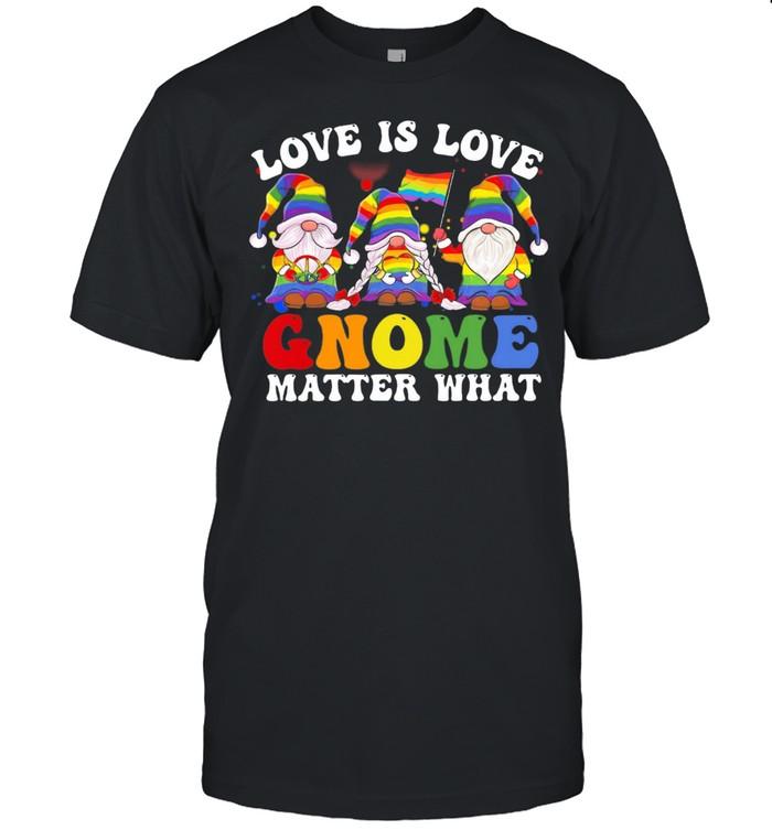 Love Is Love Gnomes Matter What LGBT Flag shirt Classic Men's T-shirt