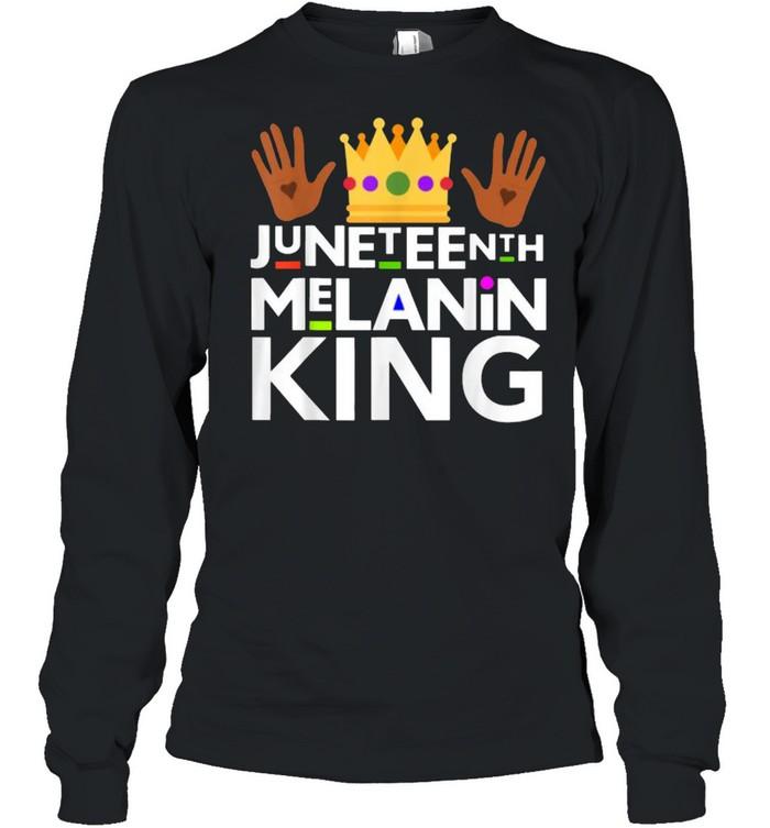 Juneteenth Black Melanin King T- Long Sleeved T-shirt