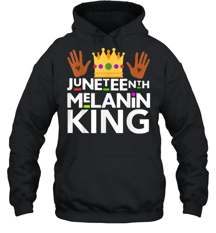 Juneteenth Black Melanin King T- Unisex Hoodie