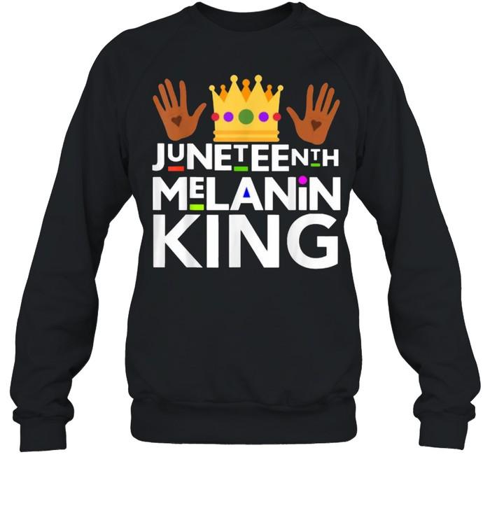 Juneteenth Black Melanin King T- Unisex Sweatshirt