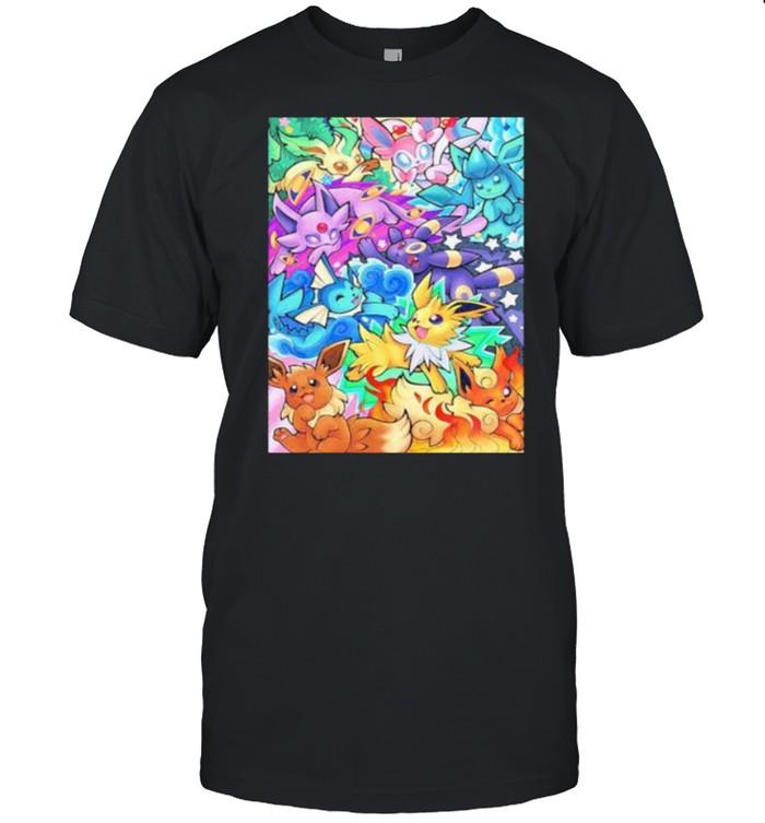 Pokemon – Eeveelutions Poster shirt Classic Men's T-shirt