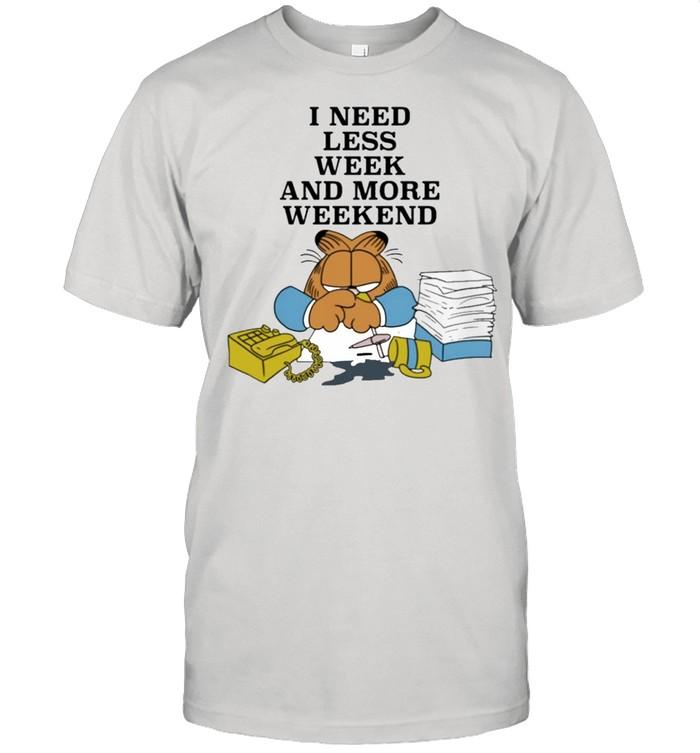 I need less week and more weekend garfield shirt Classic Men's T-shirt