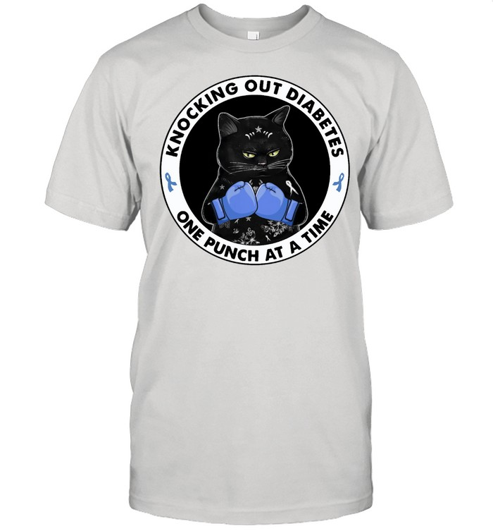 Black Cat knocking out Diabetes one punch at a time shirt Classic Men's T-shirt