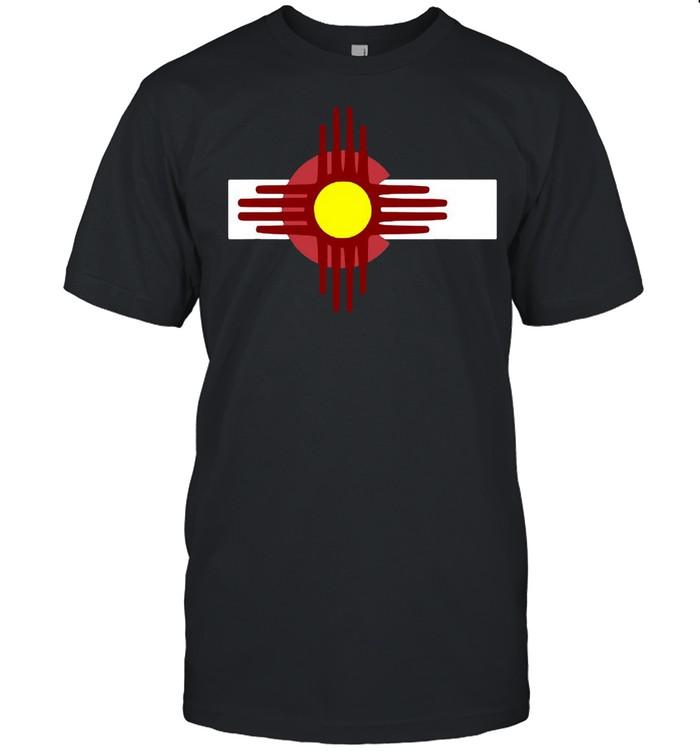 Colorado New Mexico  Flag Zia T-shirt Classic Men's T-shirt