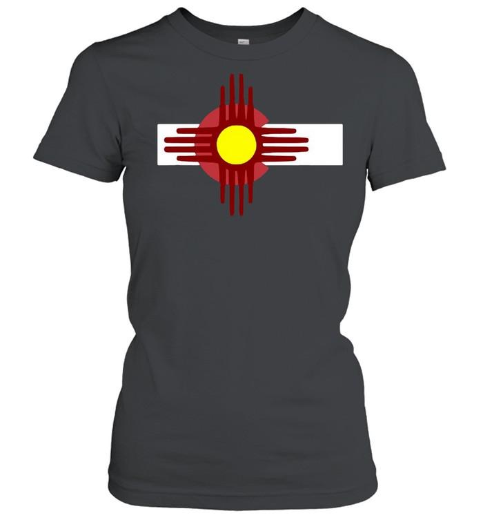 Colorado New Mexico  Flag Zia T-shirt Classic Women's T-shirt