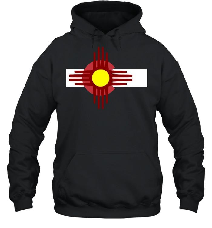Colorado New Mexico  Flag Zia T-shirt Unisex Hoodie