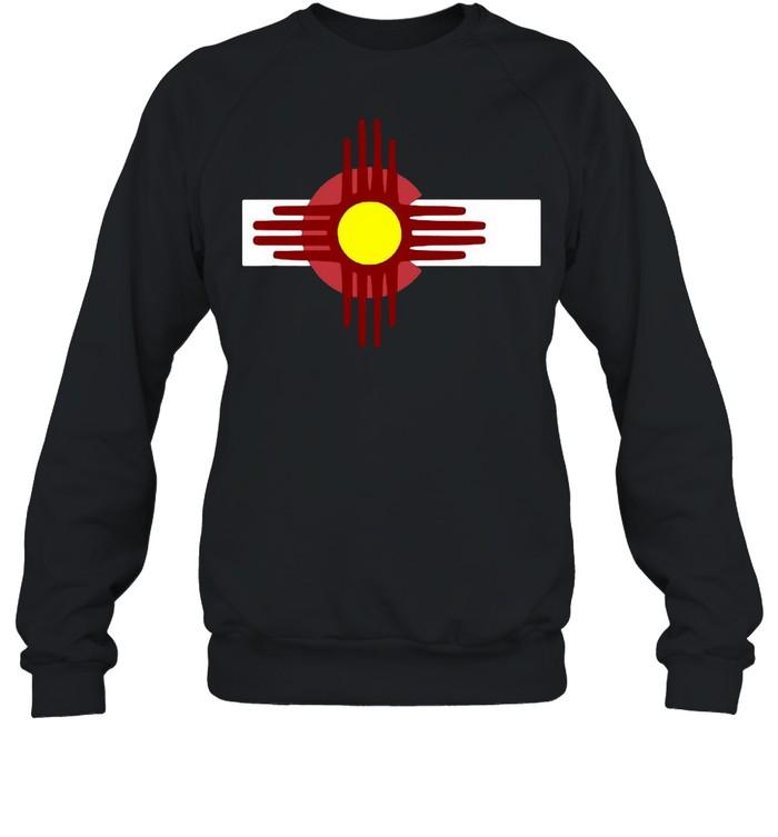 Colorado New Mexico  Flag Zia T-shirt Unisex Sweatshirt