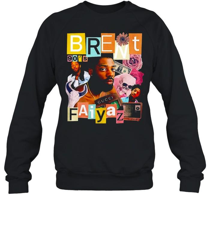 Brent Faiyaz 90's Hip Hop Rap Tour Vintage T-shirt Unisex Sweatshirt