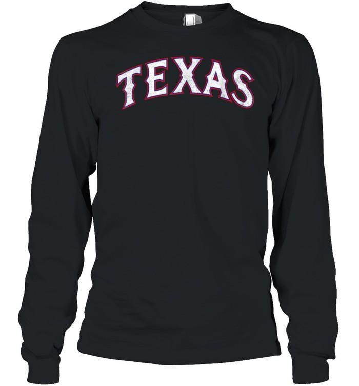 Vintage Texas Baseball T- Long Sleeved T-shirt