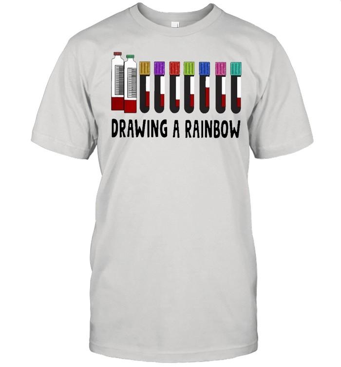 med tech drawing a rainbow shirt Classic Men's T-shirt