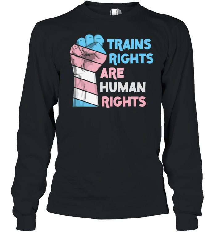 Trains Rights Are Human Rights LGBT Gay Pride shirt Long Sleeved T-shirt