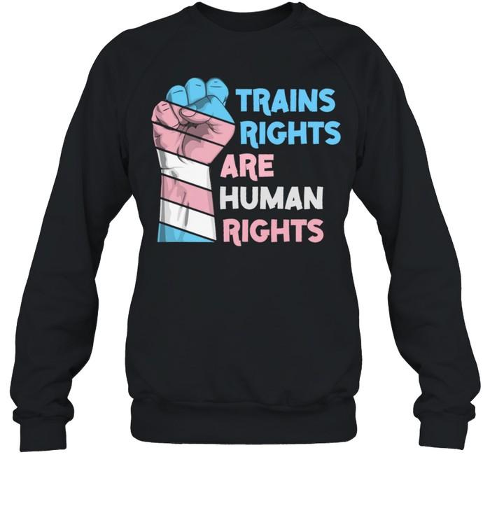 Trains Rights Are Human Rights LGBT Gay Pride shirt Unisex Sweatshirt