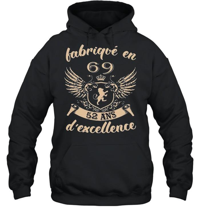 Vip fabrique en 69 52 ans dexcellence shirt Unisex Hoodie