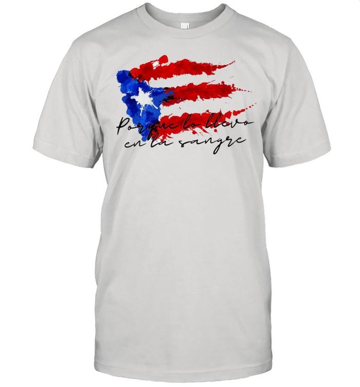 Llevo en la sangre American flag shirt Classic Men's T-shirt